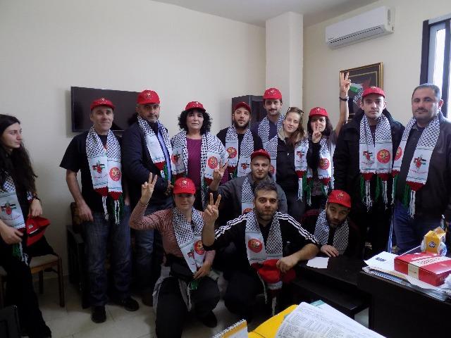 هيثم عبده يستقبل وفدًا من جبهة ضد الإمبريالية
