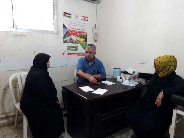 يوم  صحي مجاني لأبناء الشعب الفلسطيني في مخيمات الشمال