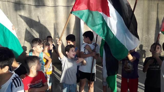 اعتصام جماهيري حاشد في مخيم عين الحلوة رفضًا لاتفاقيات التطبيع