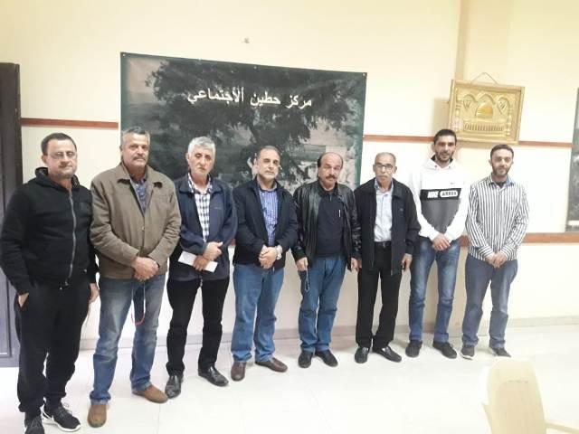 اللجان العمالية الشعبية الفلسطينية في منطقة صيدا تزور لجنة أهالي حي حطين