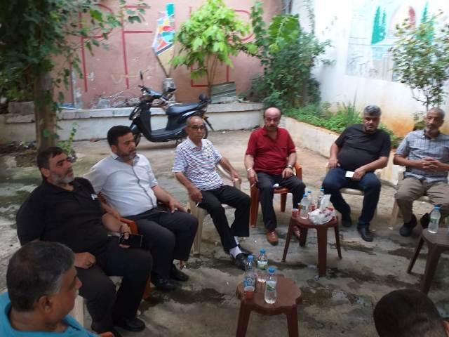 وفد قيادي من حركة المقاومة الإسلامية حماس يزور الشعبية في صيدا