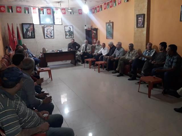 لقاء سياسي في مكتب الشعبية بمخيم عين الحلوة