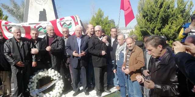 مسيرة وفاء للشهداء في منطقة صيدا أقامها حزب الشعب