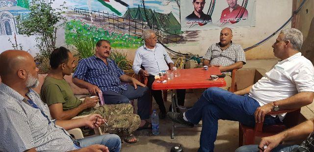 وفد من قيادة القوة الأمنية الفلسطينية المشتركة يزور الشعبية في صيدا