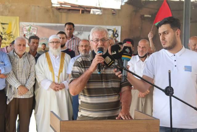 وقفة تضامنية في مخيم عين الحلوة رفضًا لممارسات العدو الصهيوني الإرهابية