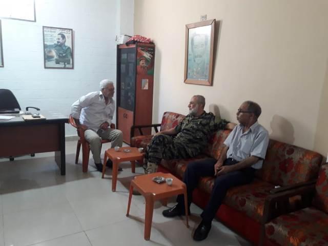 الشعبية في صيدا تلتقي نائب قائد الأمن الوطني في لبنان اللواء منير المقدح