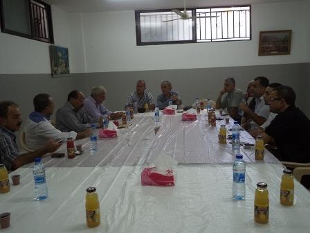 الجبهة الشعبية في مخيم عين الحلوة تزور لجنة حطين