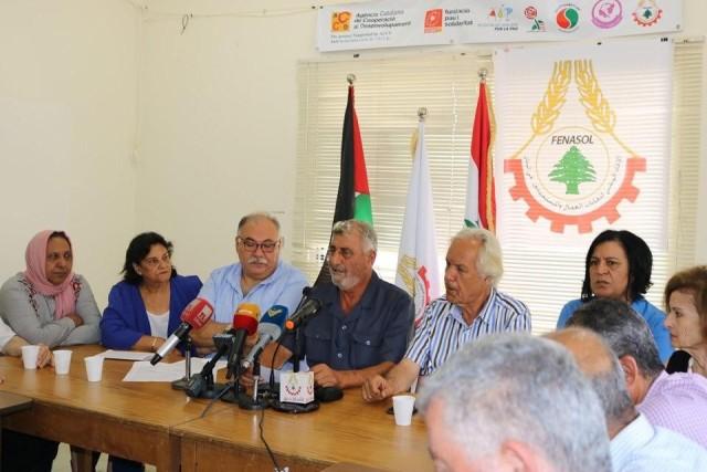 اتحاد نقابات العمال في لبنان: نعم لإقرار الحقوق المدنية والاجتماعية للاجئين الفلسطينيين