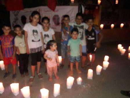 اللجان العمالية الشعبية الفلسطينية في صيدا تضيء الشموع تضامنًا مع الأسرى