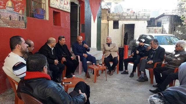 ثوابتة يلتقي بالمنظمة الحزبية للجبهة الشعبية في مخيم عين الحلوة
