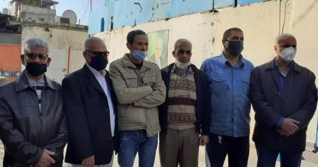 هيئة العمل الفلسطيني نفذت اعتصامًا استنكارًا لسياسة تقليص خدمات الأونروا في عين الحلوة