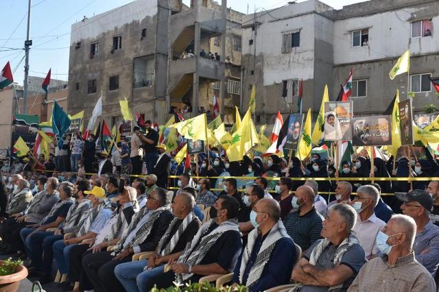 حزب الله يتضامن مع المقاومة الفلسطينية باحتفال حاشد في حارة صيدا