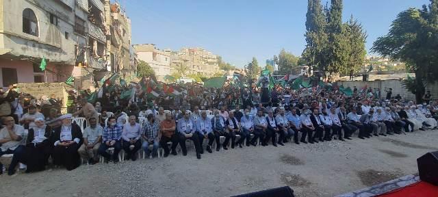 احتفال جماهيري حاشد في عاصمة الشتات الفلسطيني احتفاءً بانتصار الشعبِ الفلسطيني ومقاومته