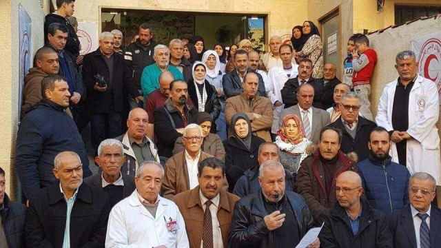 مستشفى صفد يقيم وقفة تضامنية القدس