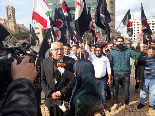 الشعبية تشارك في الاعتصام التضامني مع سوريا