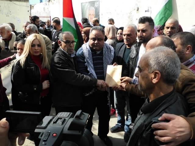 الائتلاف الفلسطيني اللبناني لحملة حق العمل يقيم اعتصامًا رفضًا لصفقة القرن