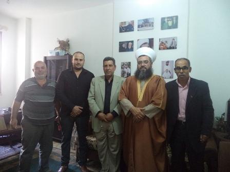 لجنة الأسرى تزور الشيخ حسام العيلاني