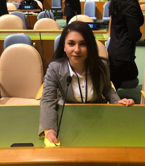 زينة شريدي ابنة مخيم عين الحلوة تقود فريق في الأمم المتحدة إلى المرتبة الثالثة