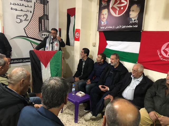 مروان عبد العال في ذكرى الانطلاقة الـ52 :سنبقى أنشودة الوطن وحراس الوجدان ورمح الأرض الذي لا ينكسر