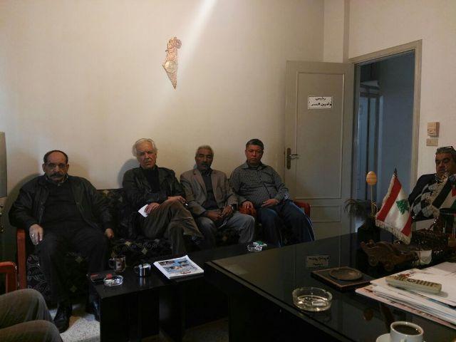 اجتماع القيادة اليومية لاتحاد نقابات عمال فلسطين في لبنان