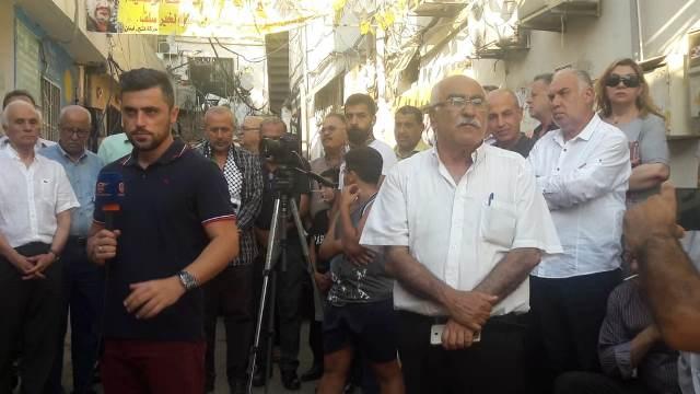 اعتصام في مخيم مارالياس احتجاجًا على قرار الوزير كميل أبو سليمان
