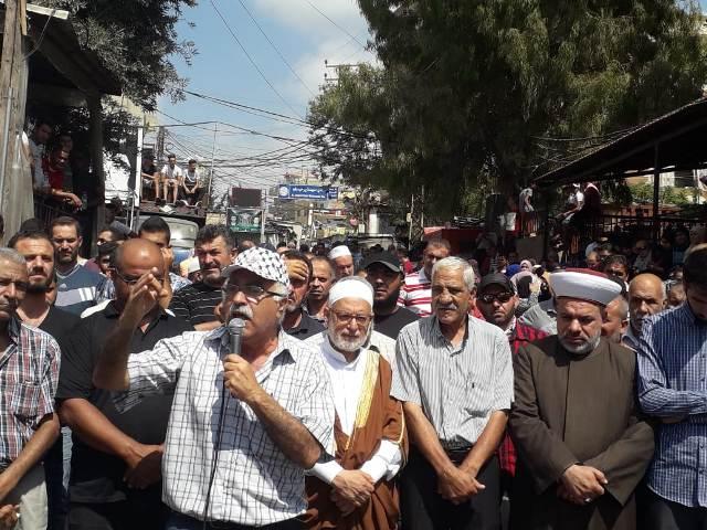 أبو جابر: الظلم الواقع على الشعب الفلسطيني في لبنان لا يمكن  السكوت عنه