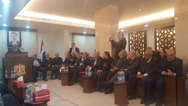 وقفة شجب واستنكار لصفقة القرن في السفارة السورية ببيروت