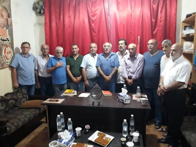 الشعبية في شاتيلا تستقبل وفدًا من قيادتي ( المرابطون) وتجمع اللجان والروابط الشعبية في بيروت
