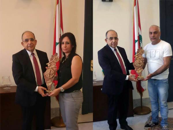 وفد من المكتب الإعلامي للجبهة الشعبية زار رئيس لجنة الحوار اللبناني الفلسطيني
