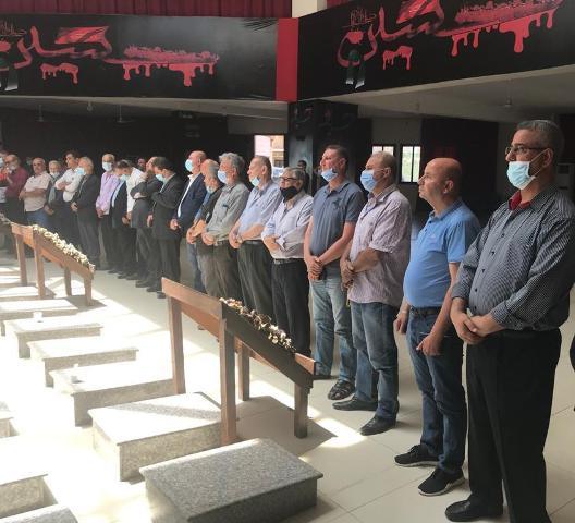 الجبهة الشعبية في صور تشارك في خميس الاسرى (230) أمام أضرحة شهداء مجزرة قانا