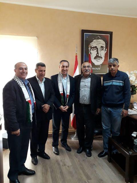 الحزب التقدمي يلتقي الشعبية لتحرير فلسطين