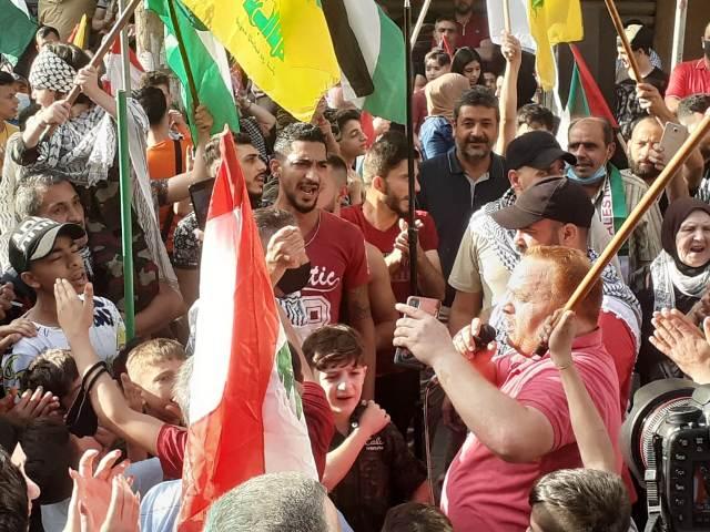 الجبهة الشعبية لتحرير فلسطين تشارك حزب الله بالوقفة التضامنية مع انتفاضة القدس في بيروت