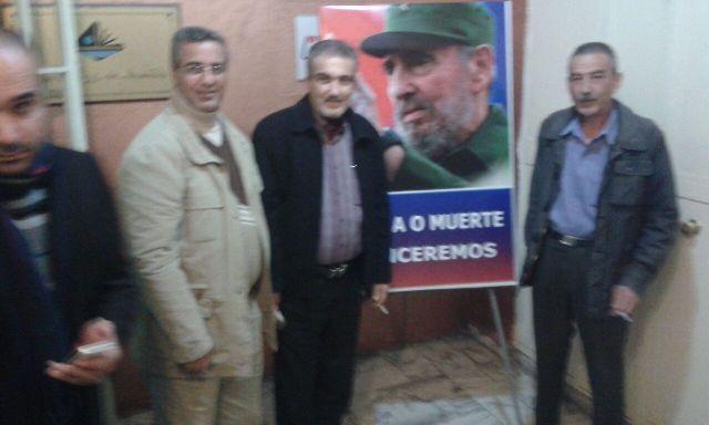 الشعبية في صور تعزي بالقائد الثوري فيديل كاسترو