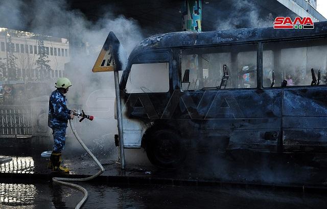 13 شهيدًا وثلاثة جرحى في تفجير إرهابي عند جسر الرئيس بدمشق