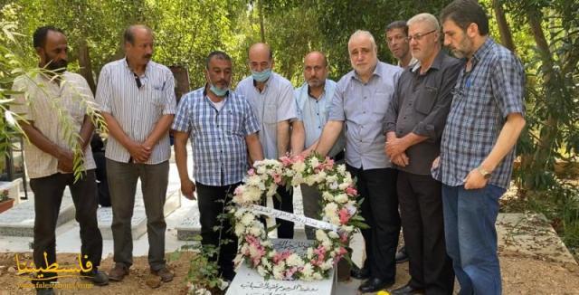 وفد من فصائل منظمة التحرير الفلسطينية يزور ضريح محمد ضاهر