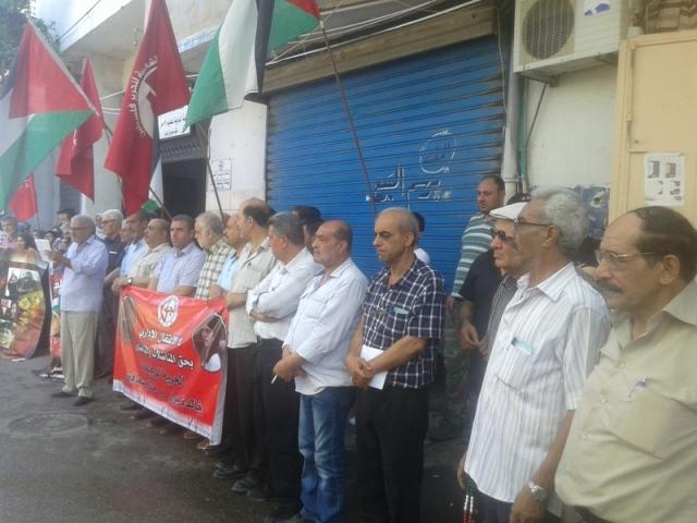 وقفة تضامنية مع المناضلتين خالدة جرار وختام سعافين في مخيم عين الحلوة
