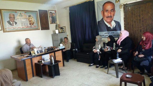مؤسسة غسان كنفاني في البداوي تزور قيادة حركة فتح