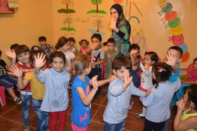 روضة احلام لاجئ تفتتح العام الدراسي الثالث لها