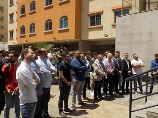وقفة تضامنية في الجامعة اللبنانية الدولية لدعم القضية الفلسطينية