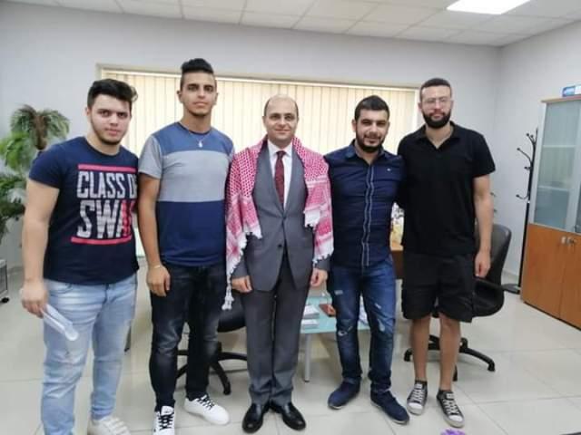 وفد من منظمة الشبيبة الفلسطينية، ومكتبها الطلابي زار جامعة LIU