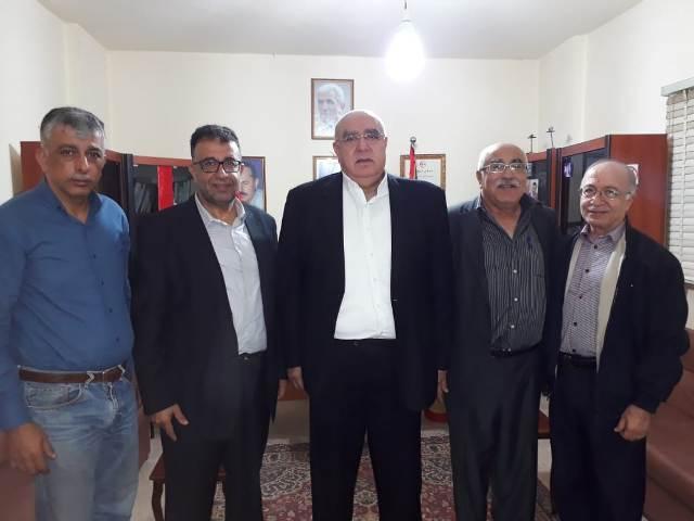 الجبهة الشعبية لتحرير فلسطين تلتقي العميد مصطفى حمدان