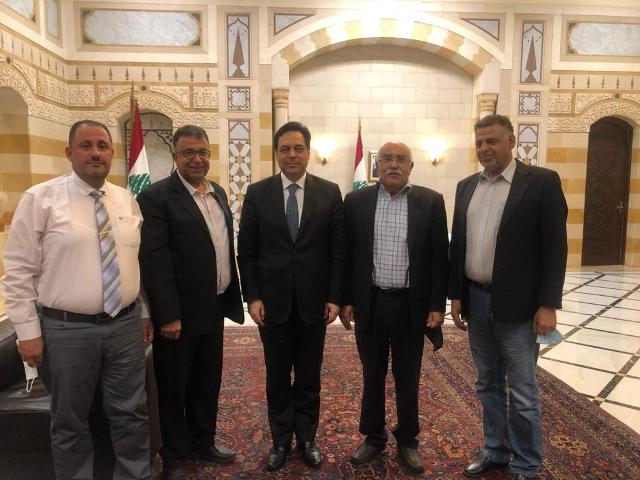 الشعبية تلتقي رئيس الحكومة اللبنانية حسان دياب