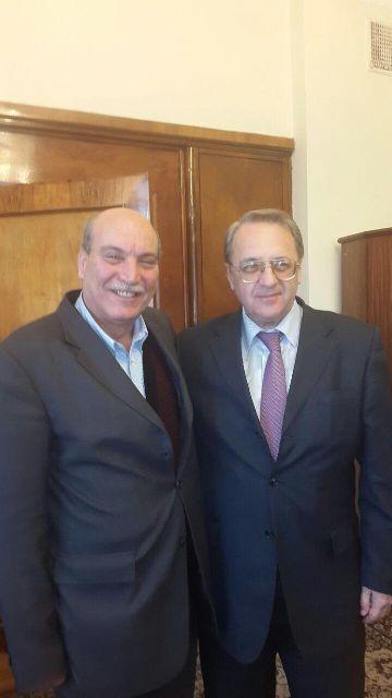 السيد ميخائيل بوغدانوفنائب وزير الخارجية الروسي استقبل الدكتور طلال ناجي والدكتور ماهر