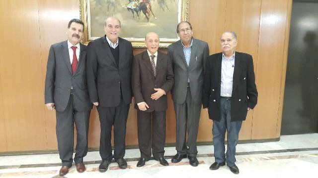 رئيس البرلمان الجزائري السيد العربي ولد خليفة يستقبل وفدًا من المكتب السياسي للجبهة الشعبية لتحرير فلسطين