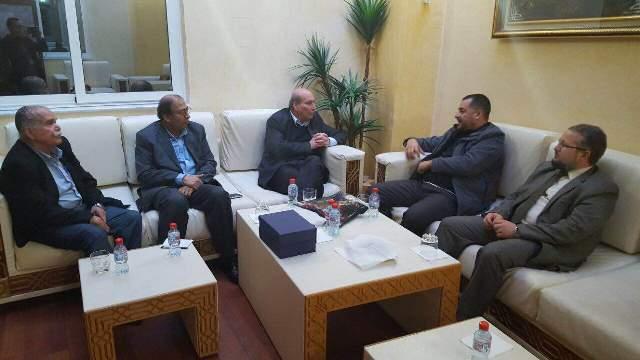 الأمين العام لجبهة القوى الاشتراكية في الجزائر يلتقي بوفد من المكتب السياسي للجبهة الشعبية لتحرير فلسطين
