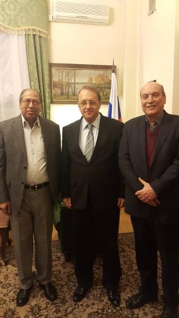 السيد ميخائيل بوغدانوف يستقبل وفدًا من الجبهة الشعبية لتحرير فلسطين
