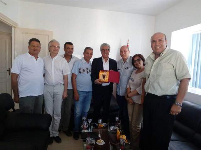 لقاء بين الدكتور ماهر الطاهر والأستاذ حمة الهمامي