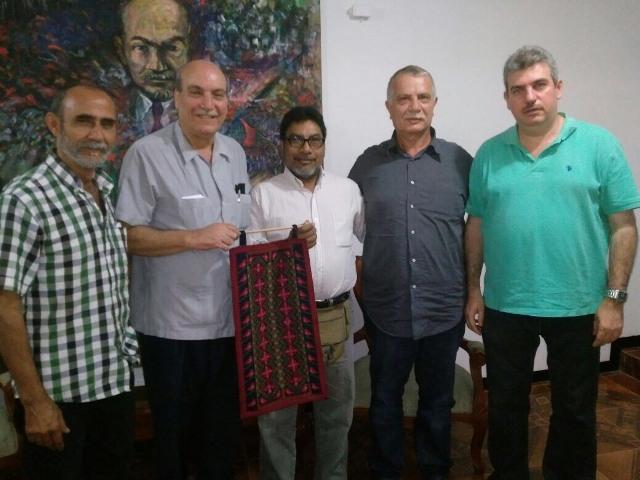 فنزويلا: وفد الجبهة الشعبية يلتقي بالأمين العام للحزب الشيوعي