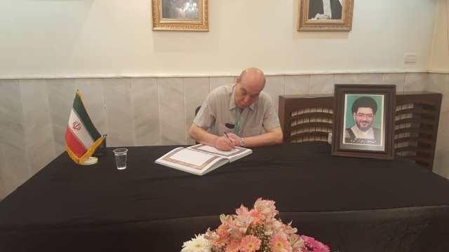 الشعبية في دمشق تعزي بوفاة السفير الإيراني الأسبق في دمشق السيد علي أكبر