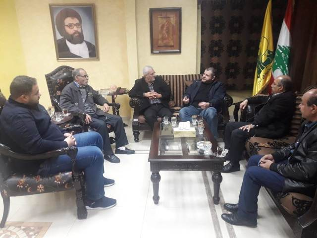 الشعبية في صيدا تزور الأخوة في حزب الله